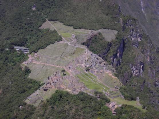 Мачу Пикчу - изглед от високо