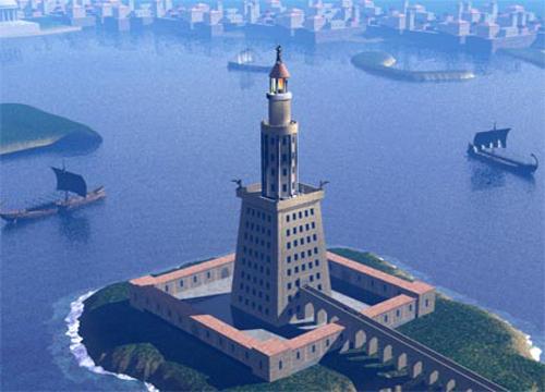 Така е изглеждал Александрийският фар до Александрия