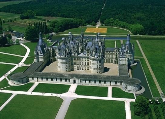 Замъкът Шамбор изглед отгоре