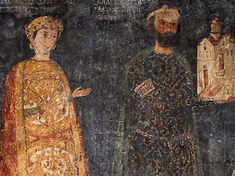 Изображения на Калоян и Десислава в Боянската църква