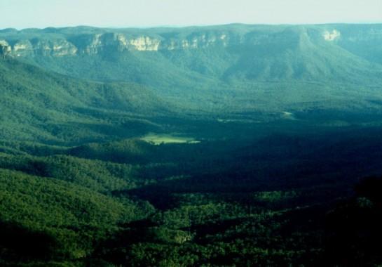 Пейзаж от Сините планини в Австралия
