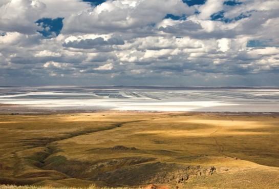 Езеро Баскунчак в Русия