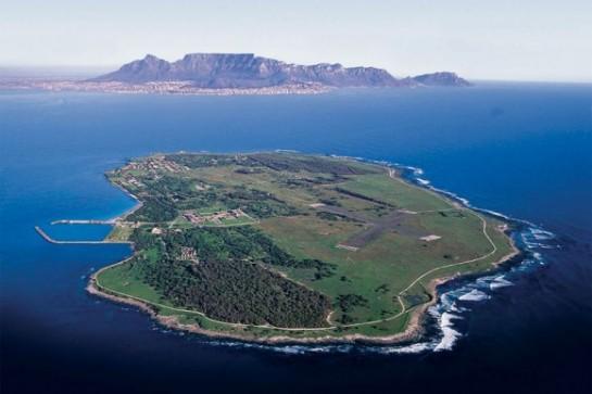 остров Робен изглед отгоре